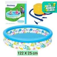 Bestway 51009 Kolam Anak [122 x 25cm ] + Pompa Injak / Kolam Anak