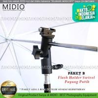 Perlengkapan Fotografi Midio DFE03 Swivel Flash Holder+Stand+Payung