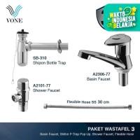 VONE A2306-77 + SB-310 + A2101-77 + FLEX SS-30 CM Paket Wastafel 3