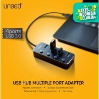 UNEED USB Hub Adapter 4 Port Adaptor USB 3.0 - UUH101