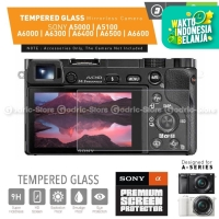 Sony Alpha A5000 A5100 A6000 A6300 A6400 Tempered Glass Screen LCD