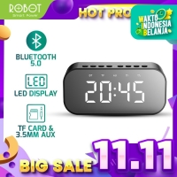 ROBOT Speaker Bluetooth 5.0 with LED Display & Alarm Clock RB550