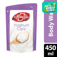 Lifebuoy Sabun Mandi Cair Yoghurt Care Refill 450Ml