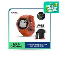 GARMIN INSTINCT SPORT GPS FLAME RED - TAM 2 TAHUN RESMI