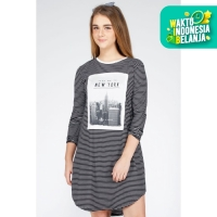 Midi Dress / Forfax Black Offwhite 74067D6BS - Ninety Degrees