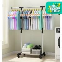 Stand Hanger Single Rak Baju - Portabel Gantungan Jemuran Pakaian