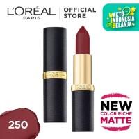 L'Oreal Lipstik Matte Color Riche Matte - Rich Merlot