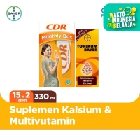 Paket Bulanan - CDR Suplemen Kalsium 30 Tablet & Tonikum 330ml