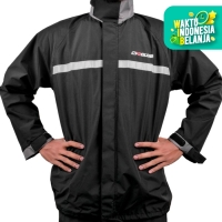 Jas Hujan Cargloss Raincoat Jaket Celana - Warna Hitam