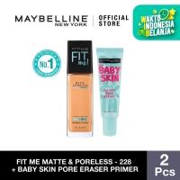 Maybelline Foundation Fit Me Pump Matte Pore+Baby Skin Pore - 220