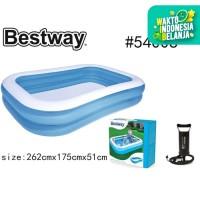 Bestway 54006 Kolam Renang Anak [262 x175 x51cm] + Pompa / Kolam Anak