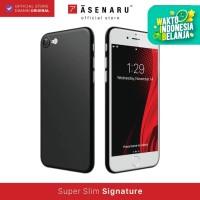 ASENARU iPhone 7/8/SE 2 Case - Slim Signature Casing - Pitch Black