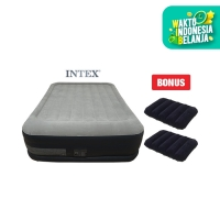 [INTEX] Dureabeam Airbed Slide Pump (Kasur Angin) + 2 Bantal