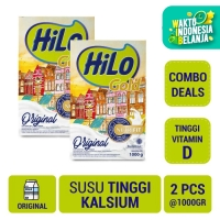 Twin Pack: HiLo Gold Plain 1000gr - Susu Tinggi Kalsium