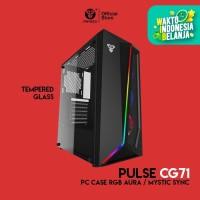Fantech PULSE CG71 Tempered Glass Casing Komputer PC Gaming Case RGB