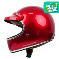 Cargloss Howard Smith Cafe Racer Helm Full Face - Majestic Red