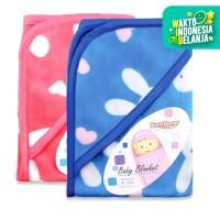 Lusty Bunny Selimut Bayi Motif Print Kelinci lucu Topi Baby Blanket