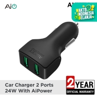 Aukey Car Charger 2 Ports 24W AiQ - 500223