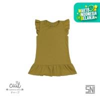 CUIT Ruffle Dress - Block color Series Renda - YELLOW, S
