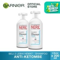 Garnier Neril Hair Care Shampoo Anti Dandruff - 200ml Twin Pack