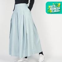 Dailys Rok Pleated Skirt Flare Linen Plain Umbrella Premium Quality