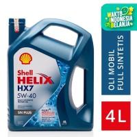 Oli Mesin Mobil Shell Helix HX7 5W-40 (4L)+ Ganti Oli di Tempat