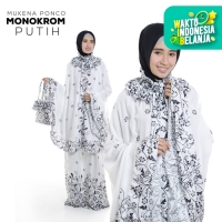 Mukena Ponco Monokrom
