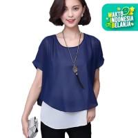 Jfashion Korean Style Double Layer Blouse - Ivanka
