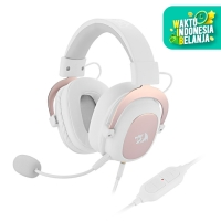 Redragon Gaming Headset 7.1 with Microphone USB AUX ZEUS 2 - H510 - Putih