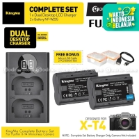 KINGMA Paket Complete Battery LCD Charger Set NP-W235 Fujifilm X-T4