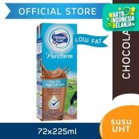 Frisian Flag Purefarm Susu UHT Low Fat Belgian Chocolate 225ml [72Pcs]