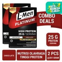 Twin Pack: L-Men Platinum Choco Latte Box (6 Sch) 25gr Protein/Serving