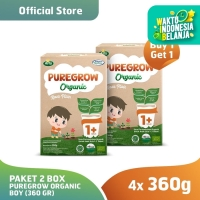 (Buy 1 Get 1) Paket 2 Box PUREGROW Organic - Susu 1-3 thn 360gr Boy