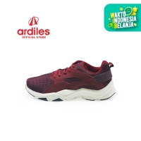 Ardiles Men Scleropta Sepatu Running - Maroon