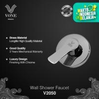 VONE PREMIUM V2050 Stop Kran Wall Shower Mandi Tanam Brass Chrome