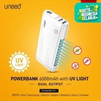 UNEED Powerbank Dual Output 6.000mAH with UV Light Sterilizer - UPB202