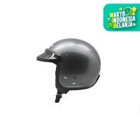 Cargloss Retro Army Helm Half Face - Anchor Grey