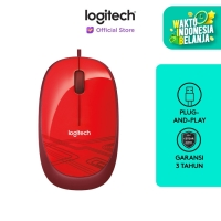 Logitech M105 HD Optical Mouse - Red