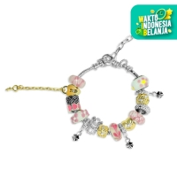 Roman Charm Bracelet- Gelang Crystal Swarovski® By Her Jewellery - Pink
