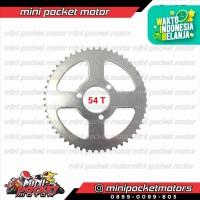 Gear Belakang Mini Trail & ATV 54T Motor Mini Mesin Tarik 2T 50cc