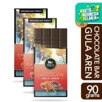 WoCA Premium Chocolate Bar 3x 90g - Cokelat Rasa Gula Aren - 90 gram