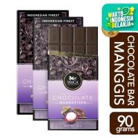 WoCA Premium Chocolate 3 x 90g Bars - Cokelat Batang Rasa Manggis