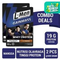 Twin Pack: L-Men Gain Mass Mangga 500gr