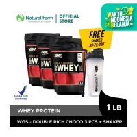 Optimum Nutrition 100% WHEY Gold Standard-Chocolate 1lb 3 pcs + Shaker