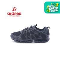 Ardiles Men Max Run Sepatu Running - Hitam