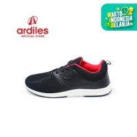 Ardiles Men Bolly Sepatu Running - Hitam Merah
