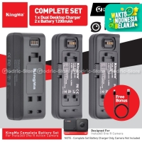 KINGMA Set Paket Complete Baterai dan Dual Charger for Insta360 ONE R