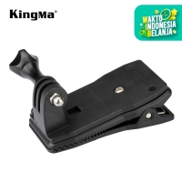 360 ROTATE BACKPACK CLIP WITH CLAMP MOUNT SCREW KINGMA FOR ACTION CAM