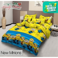 Bed Cover Lady Rose - MINIONS - Flat - 180x200 (King)