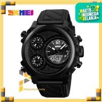 Jam Tangan Pria Dual Time SKMEI 1359 Casio Sport Original - Hitam